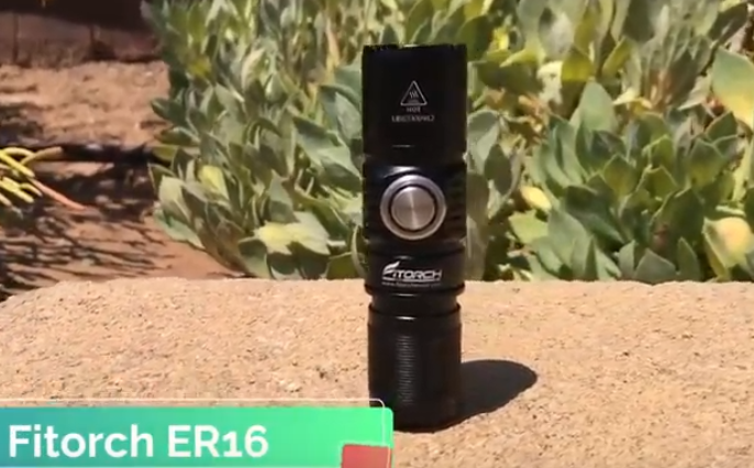 The Best Single CR123A Flashlight for EDC - Fitorch ER16